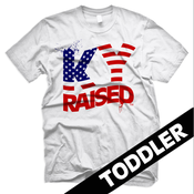Image of KY Raised Toddler USA FLAG tee in White, Red & Blue
