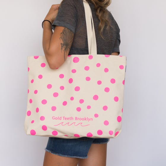 Image of Stripes & Polka Dots Tote Bag