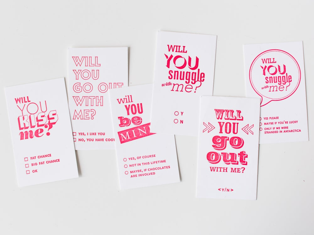 Image of Mixed Mini Calling Cards - Set of 6