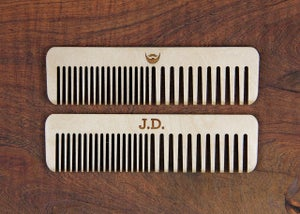Image of Personalized Handmade Wood Hair Comb - Baltic Birch Plywood or Bamboo