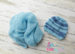 Image of Classic Wrap & Striped Beanie Set