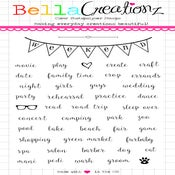 Image of PRE-ORDER ONLY!  Weekend Plans Clear Stamp Set - Planner Stamps