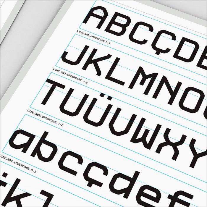Image of Modul 300 dpi Pixel Based Font