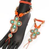 Image of Pair of Barefoot Sandals in Orange