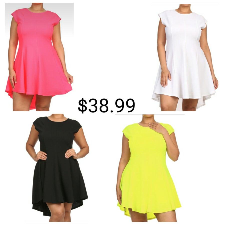 Image of Pleated Hi Low Dress