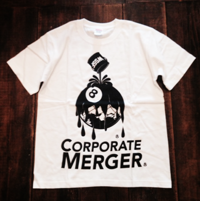 Image of WSSF X 8 BALL ZINE CORPORATE MERGER TSHIRT/SWEATSHIRT