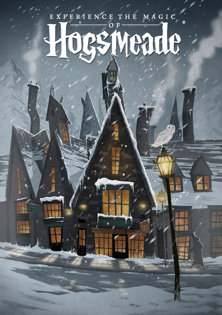 Image of Hogsmeade Travel Poster