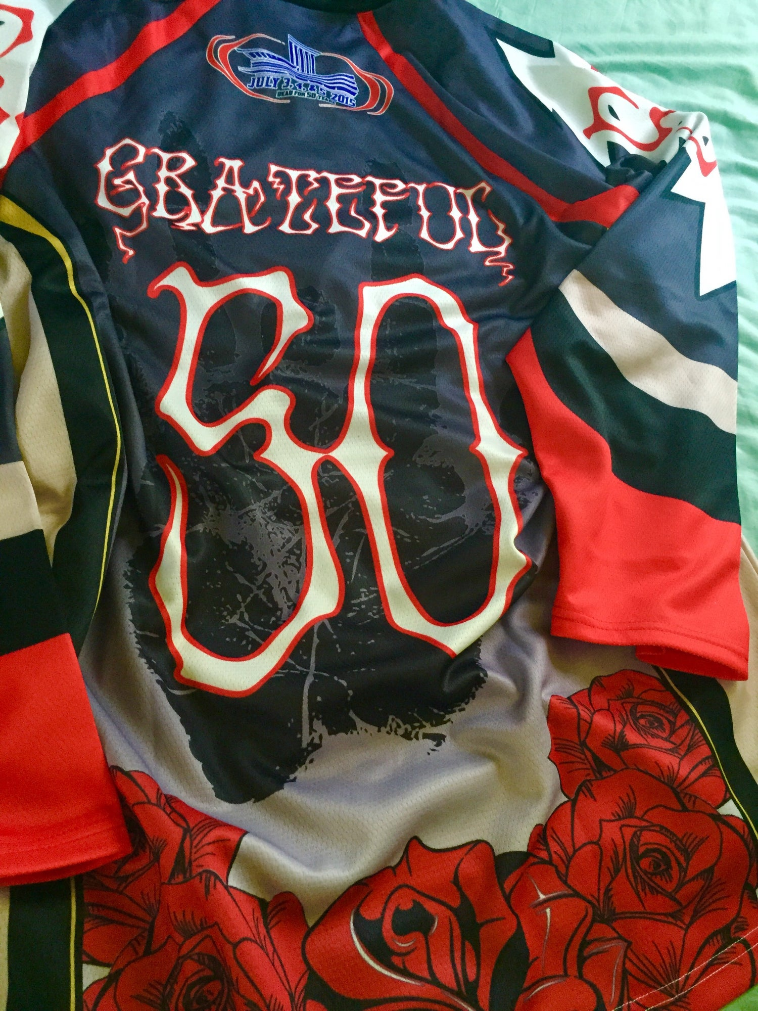 "Image of GD50 ""Fare Thee Well""-CHICAGO 7/3,4,5 2015, Fifty Years Limited Edition Collectible Hockey Jersey"