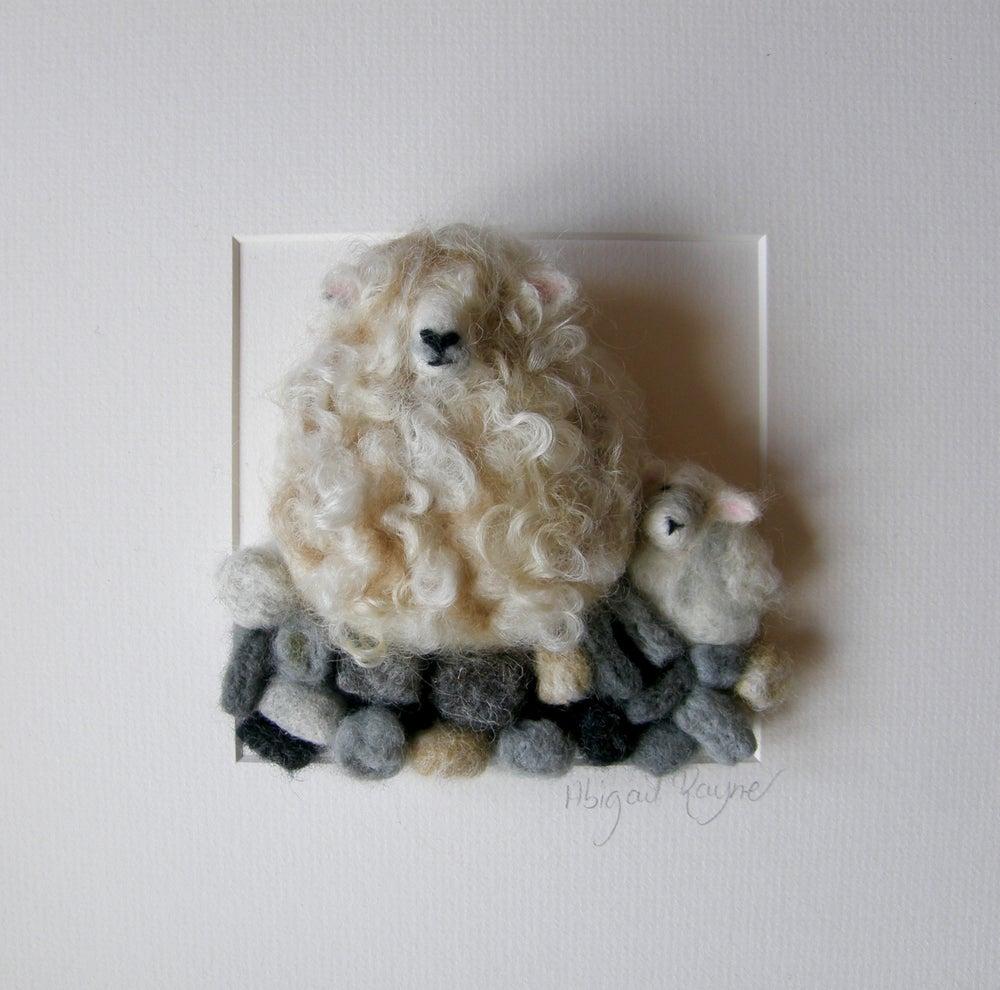 Image of Cornish Patsie and little lamb Dora