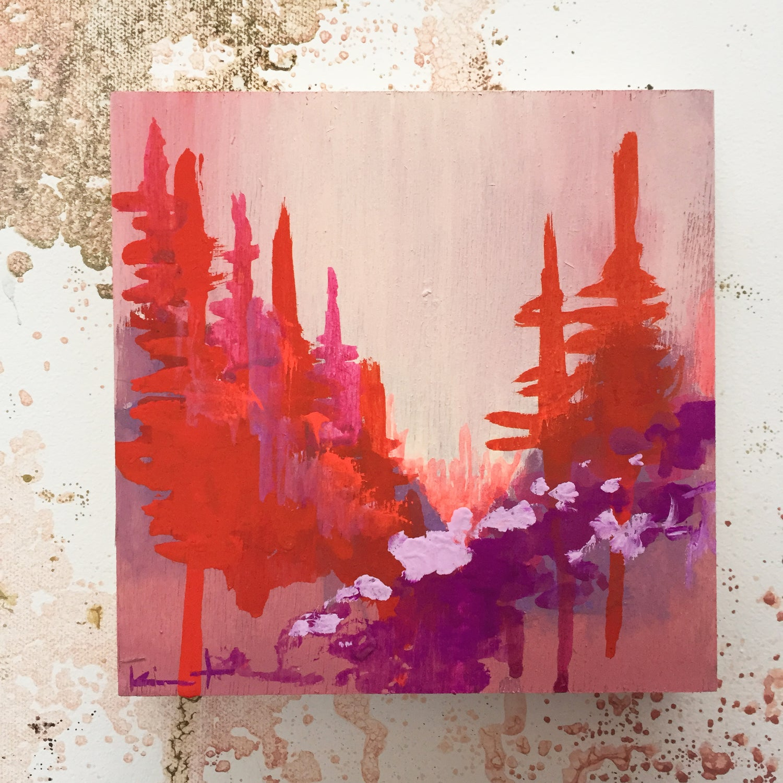 Image of Tiny Painting No. 5 (vermilion, lavender)