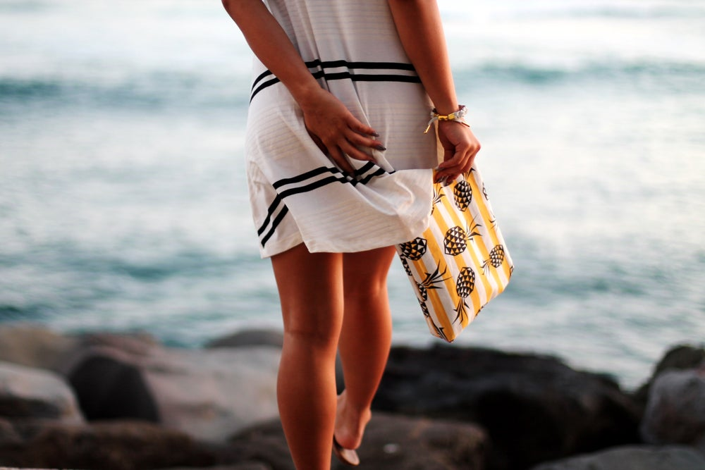 Image of Striped Pineapple Clutch