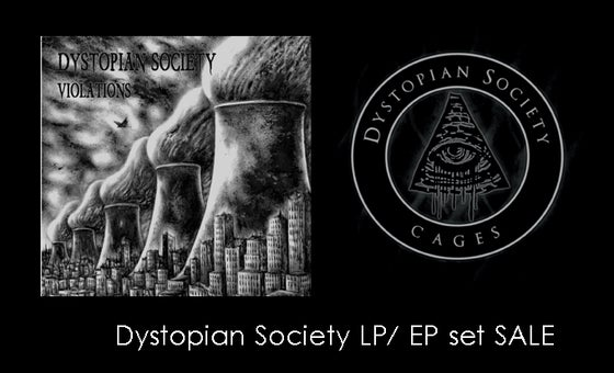 Image of Dystopian Society Cages LP / Violations EP bundle