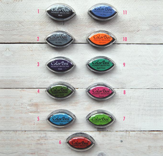 tamp n tinta para sellos varios colores artenpapelshop. Black Bedroom Furniture Sets. Home Design Ideas