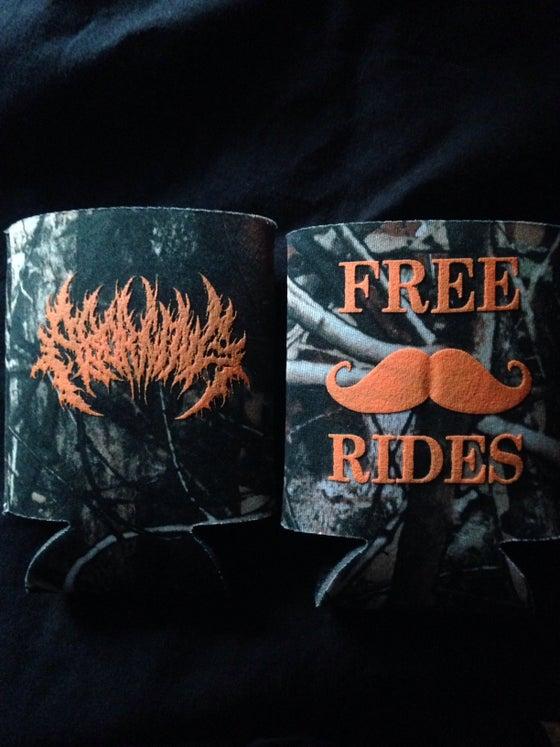 Image of Mustache Rides Koozie