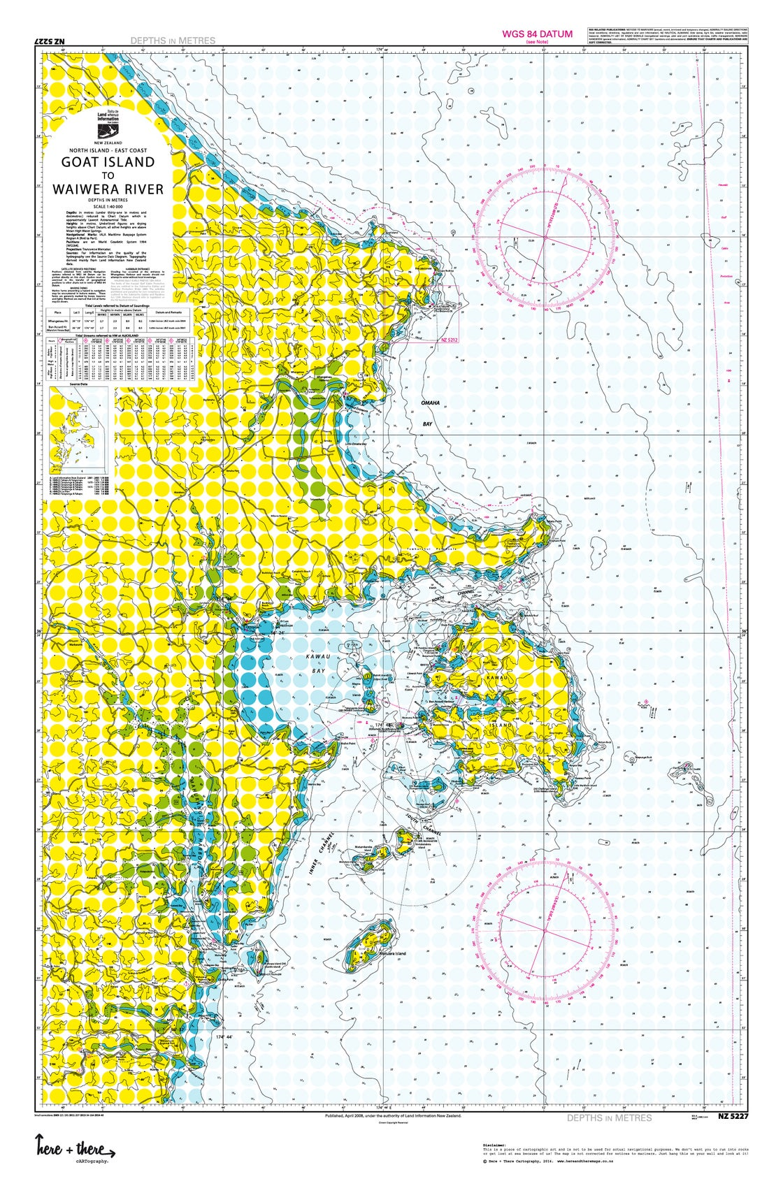 Image of Goat Island to Waiwera - Yellow Polka