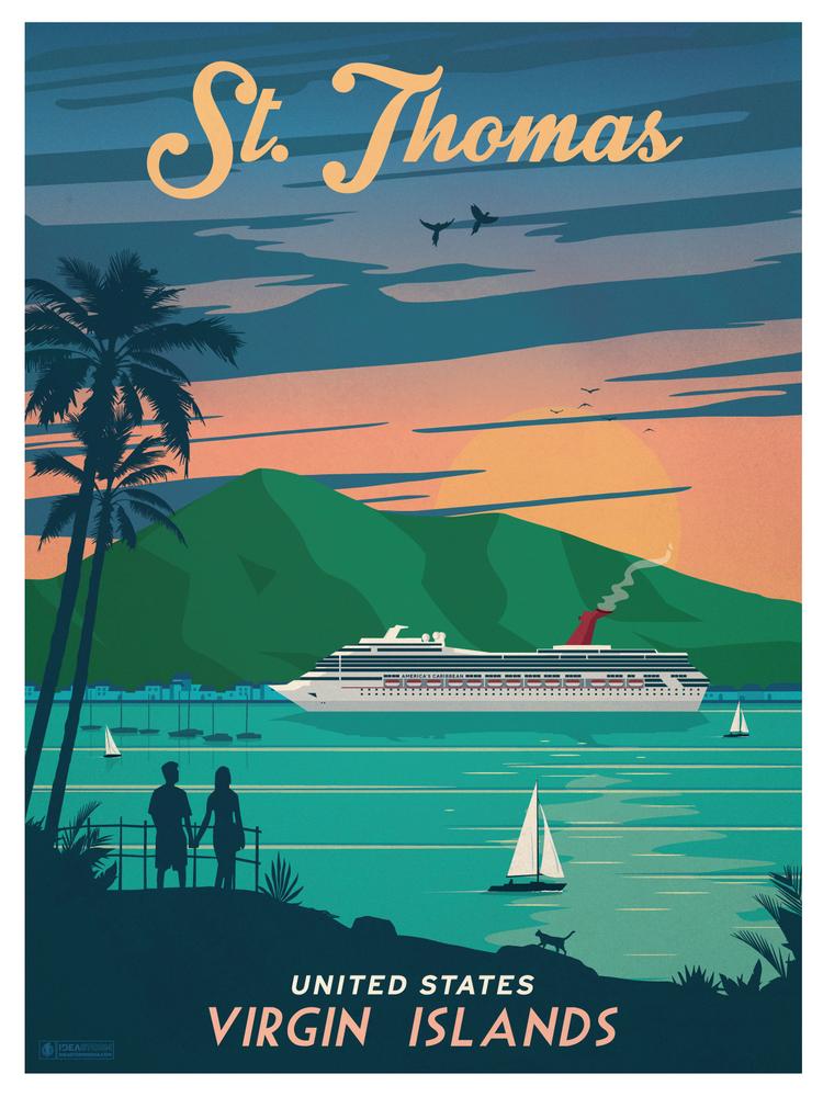 Image of Vintage St. Thomas Print