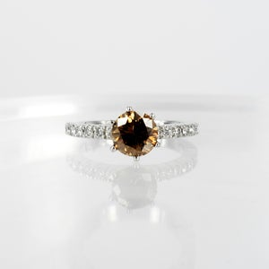 Image of PJ4897 Argyle Cognac diamond engagement ring