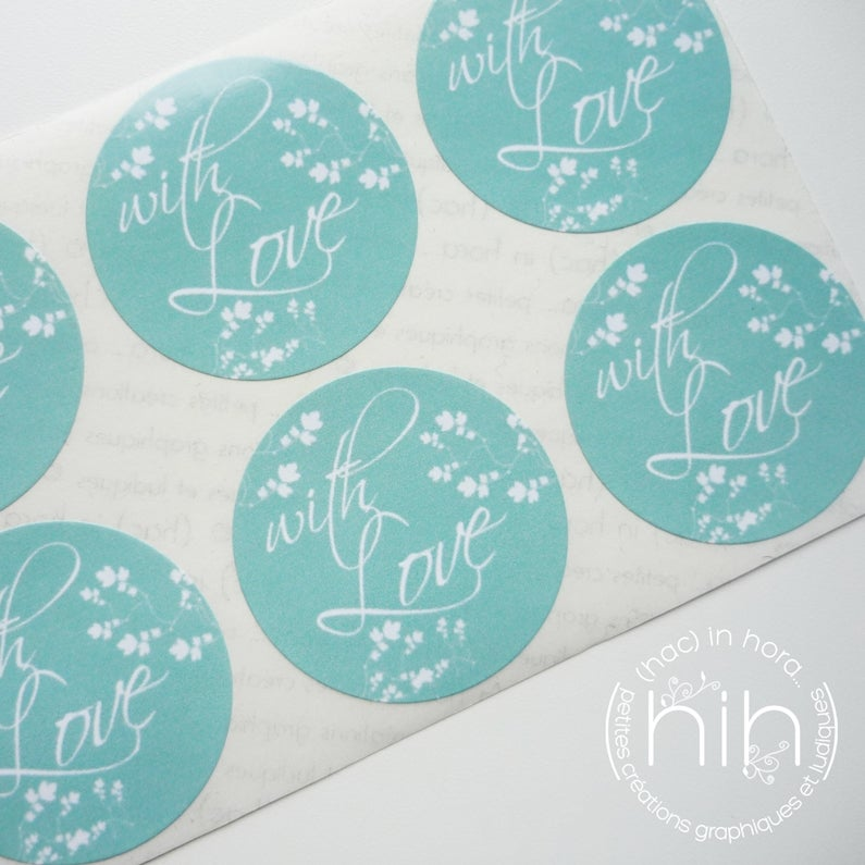 Image of stickers ☀spring☀ with love / 4 coloris
