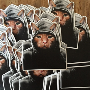 Image of Ming Ming-Stalker Kitty Sticker