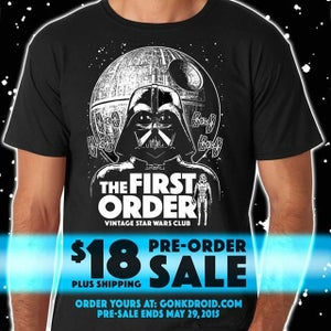 Image of **Preorder** THE FIRST ORDER - VINTAGE STAR WARS CLUB SHIRT