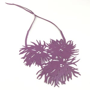 Image of Florence & Leah recycled leather necklaces  (Chrysanthemum)