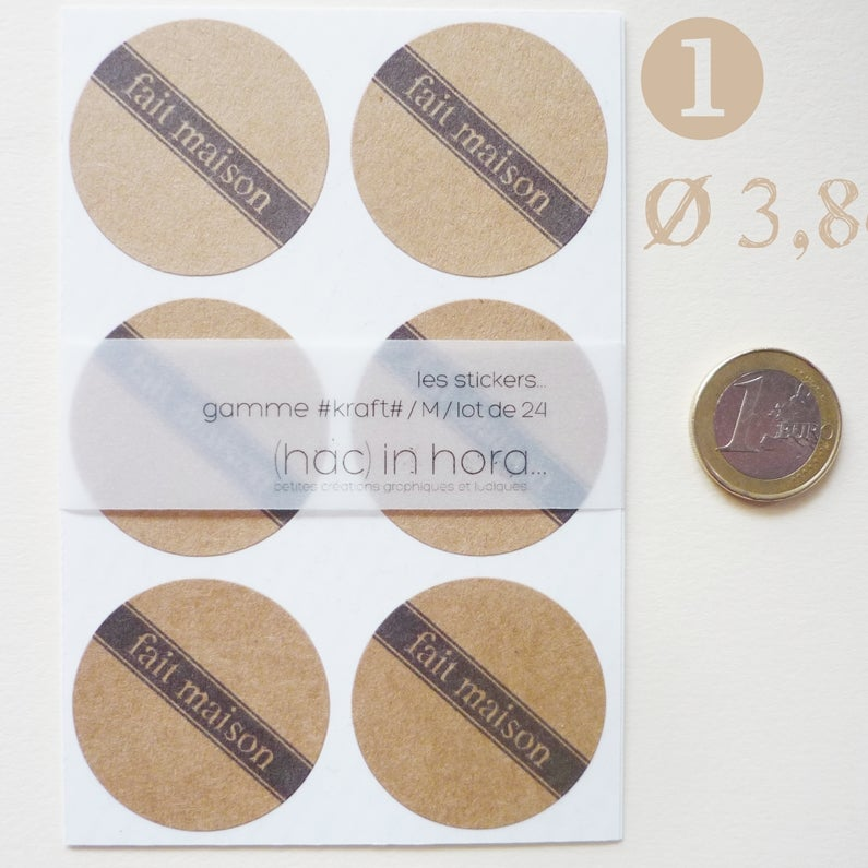 "Image of stickers #kraft# ""fait maison"""