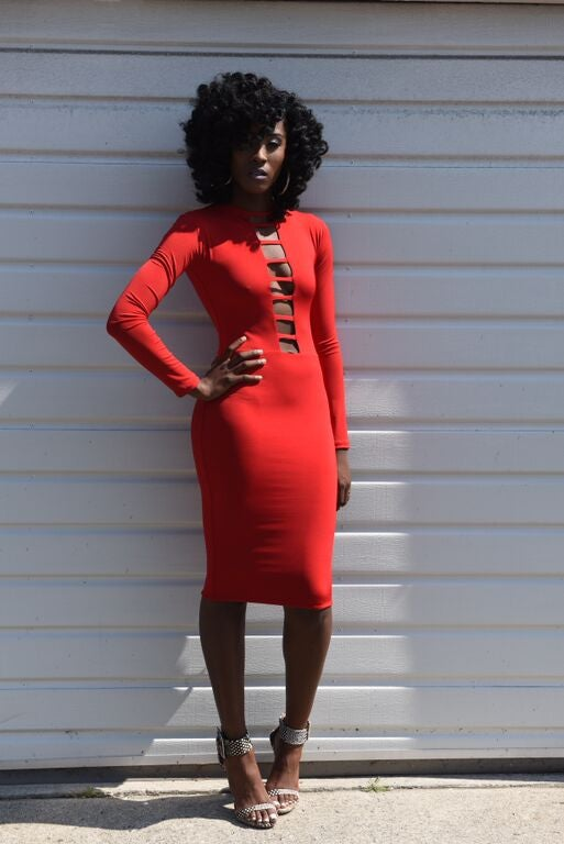 Image of Philthy Ragz Red Adana Dress