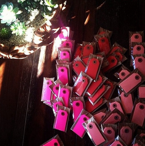 Image of Neon Pink Gift Tags