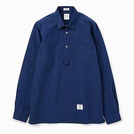 "Image of BEDWIN ""Shaw"" L/S Side Pocket Oxford Shirt - INDIGO"