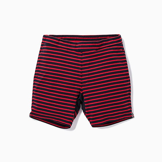 "Image of BEDWIN ""Marcy"" 4/L Border Shorts - RED"