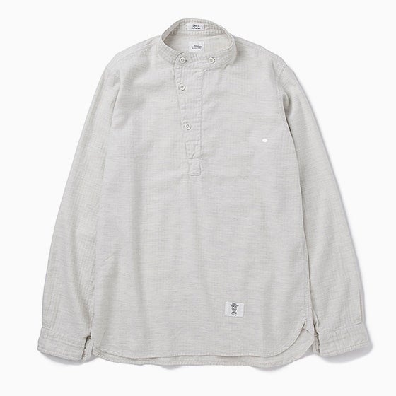 """Image of BEDWN """"Hubbard"""" L/S M55 Pullover Shirt - WHITE"""