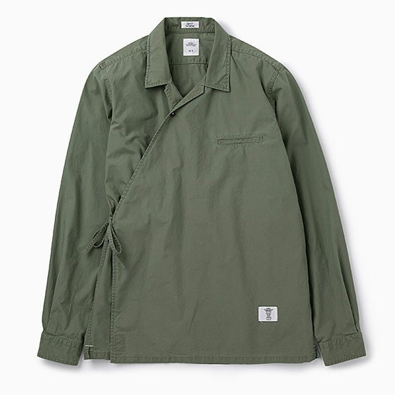 "Image of BEDWIN ""Hughes"" L/S Samue Shirt - OLIVE"