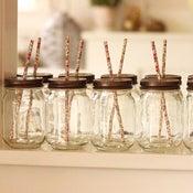 Image of Set of 6 lemonade Jars + Lids