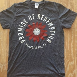Image of Promise of Redemption Flowers Tee Grey
