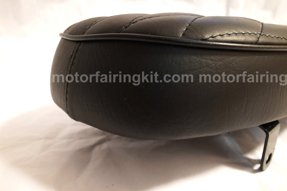 Image of Cafe Racer Brat Seat - Diamond Upholstered