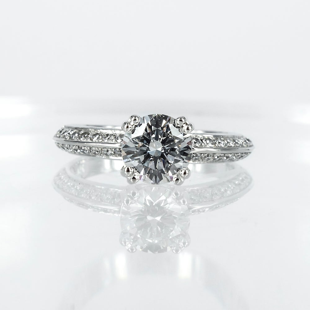 Image of PJ4891 Diamond set knife edge engagement ring