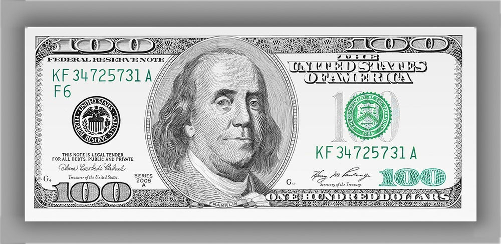 """Image of """"One Hundred Dollar Bill"""" - Limited Edition Print"""