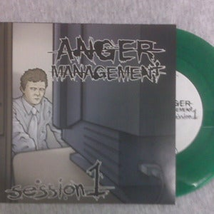 "Image of Anger Management Session 7"" vinyl hardcore comp."