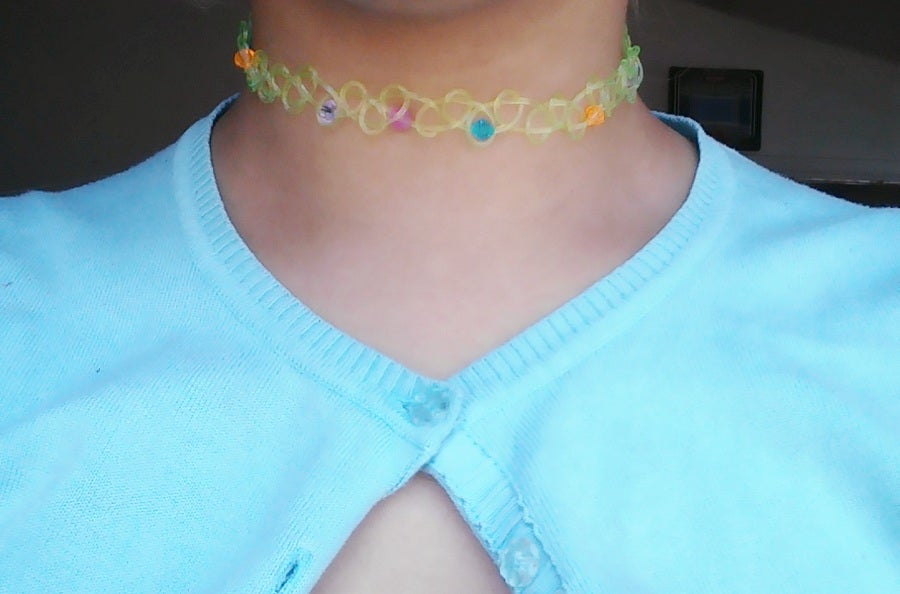 Image of Tattoo choker with beads