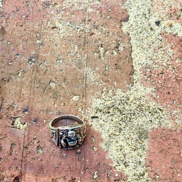 Image of Men's Laughing Buddha Ring