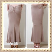 Image of Twist Back Taupe SKIRT
