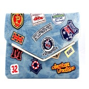 Image of Denim Patch Clutch PRE ORDER SHIPS 5/28