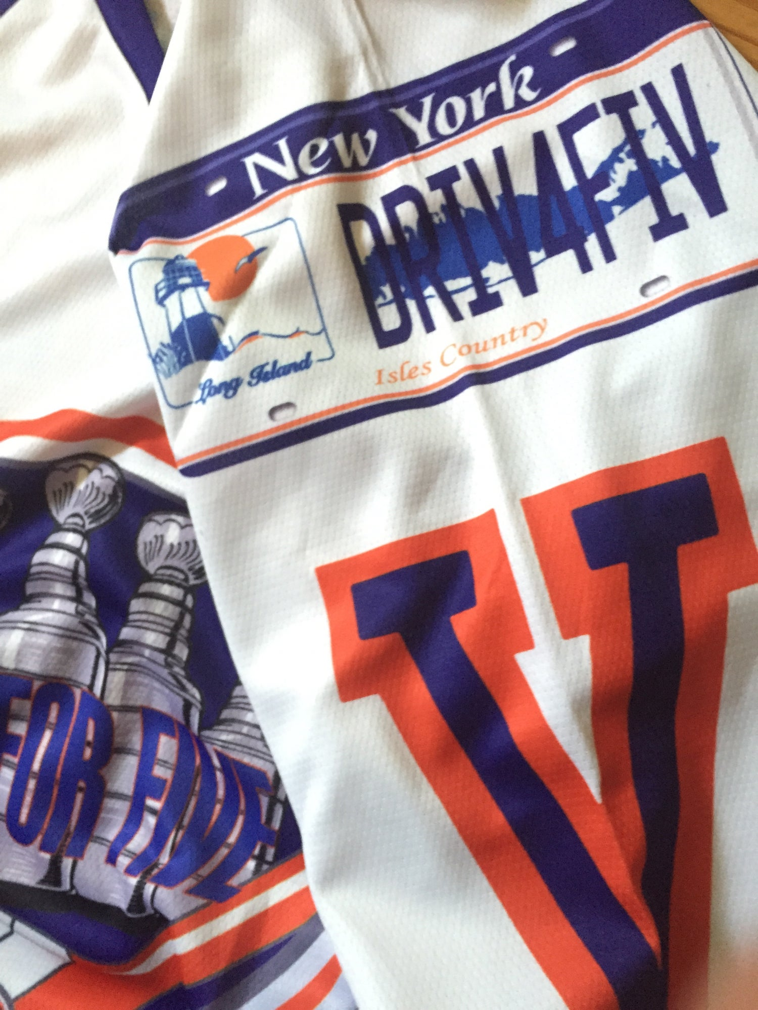 Image of NYI Drive for Five Limited Edition Hockey Jersey