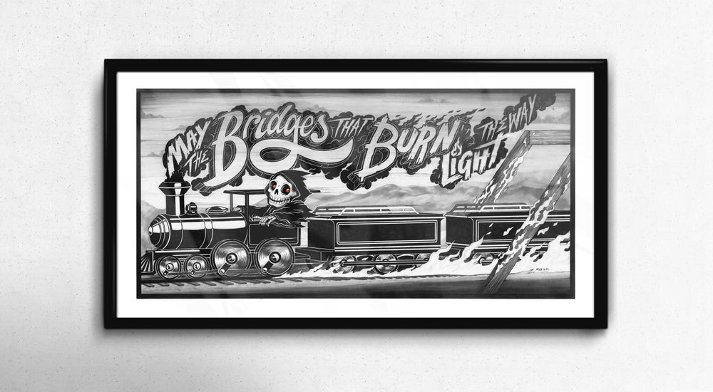 Image of 'Bridges that Burn' Print