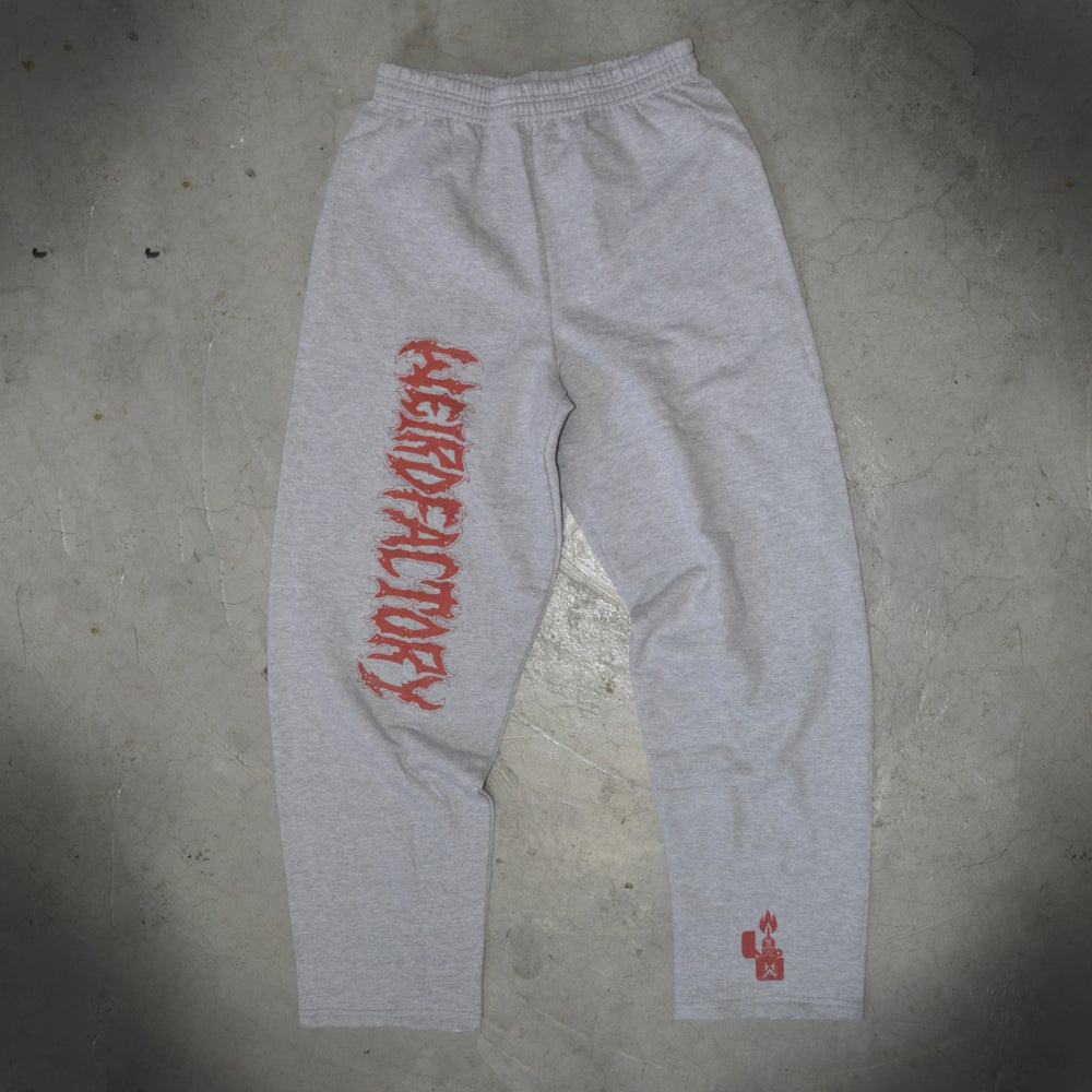Image of THE WEIRD FACTORY GREY SWEATPANTS