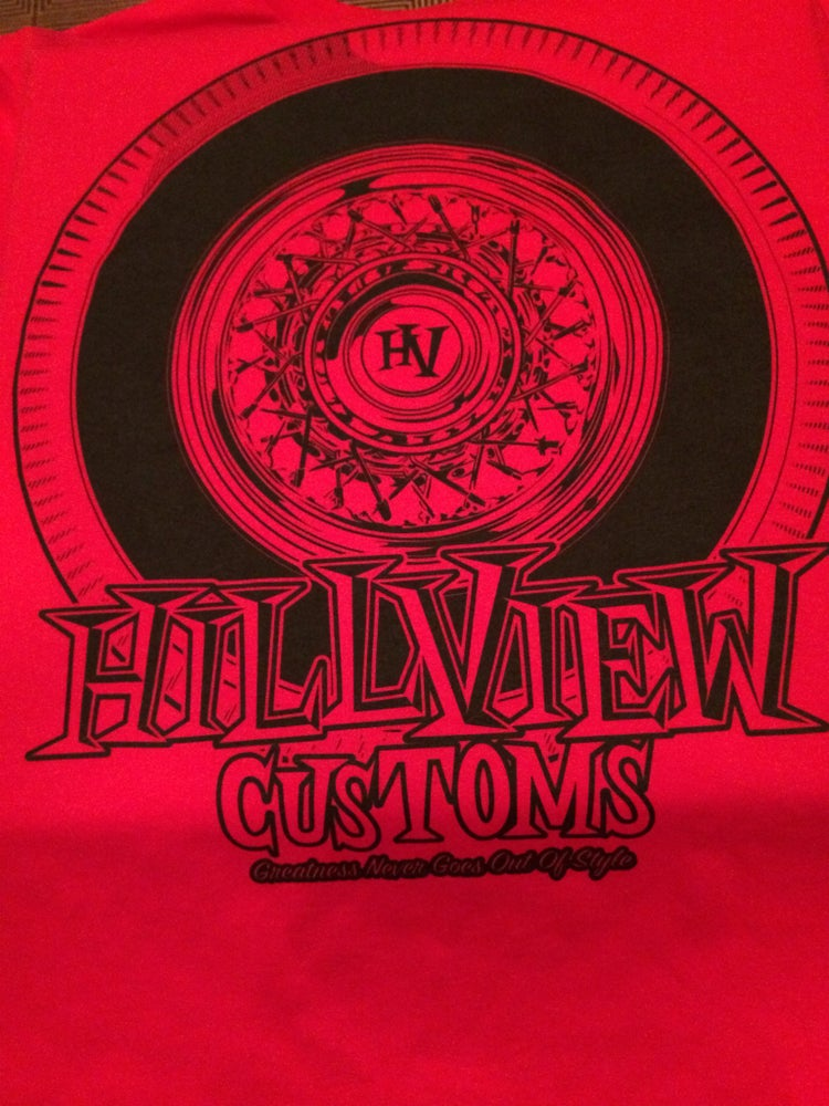 """Image of Hillview Keepin It """"True"""" Men's Shirt in RED (100% cotton)"""