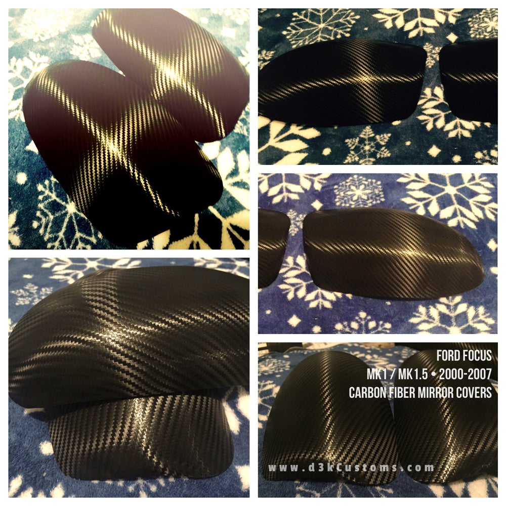 Image of Ford Focus 00-07 Carbon Fiber Side Mirror Cover Set