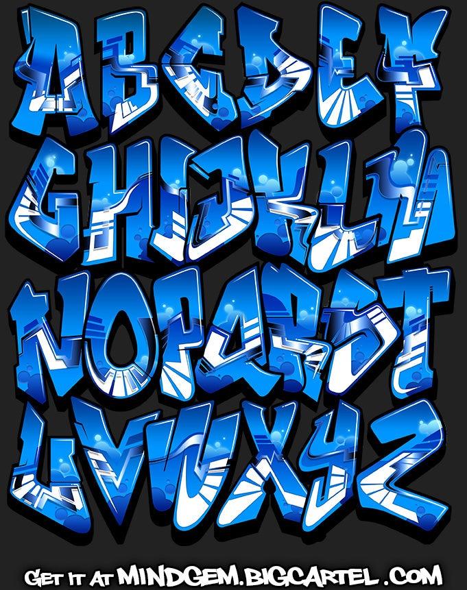 Image of Graffiti Font - Lapis