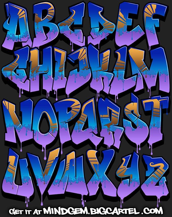Image of Graffiti Font - Royal