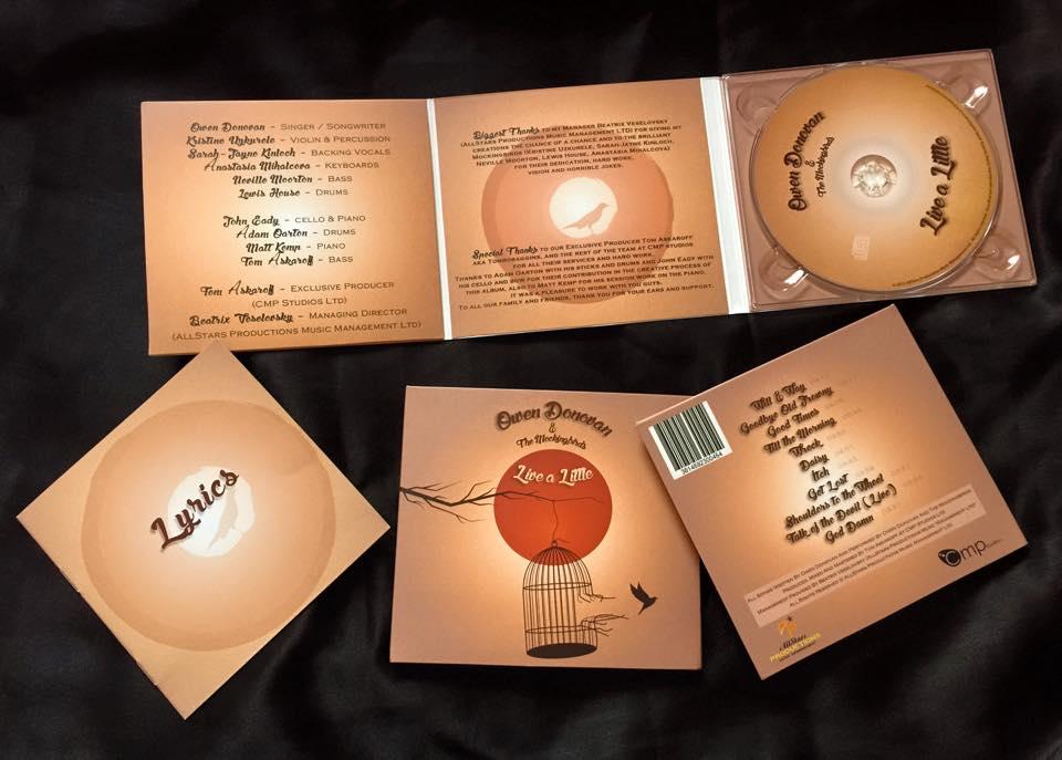 """Image of Owen Donovan &The Mockingbirds """"Live a Little"""" Album"""
